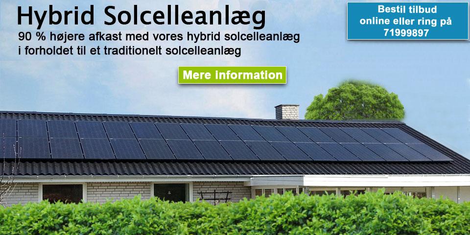 solcelleanlæg med batteri